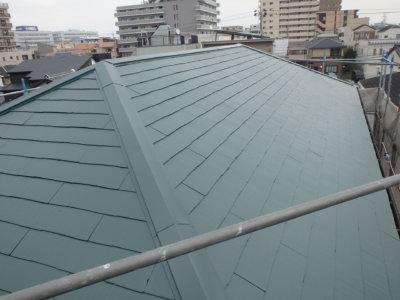 屋根色 考え方外壁塗装の事なら浜松塗装専門店|加藤塗装カラーベストスーパーシャネツサーモシリコンフッ素遮熱ヤネフレッシュフォレストグリーンセミフロンスーパーシリーズダークグリーン