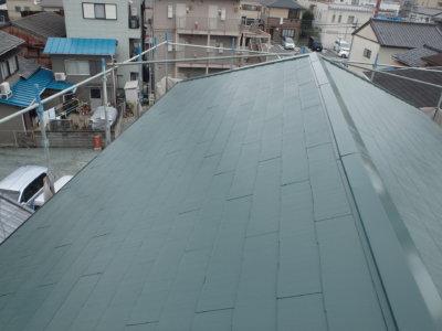 屋根色 考え方外壁塗装の事なら浜松塗装専門店|加藤塗装カラーベストスーパーシャネツサーモシリコンフッ素遮熱ヤネフレッシュフォレストグリーンセミフロンスーパーシリーズ