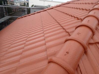 浜松市東区大蒲町外壁塗装屋根塗装完成しました。加藤塗装 レンガ 洋瓦 施工前後 ビフォーアフター