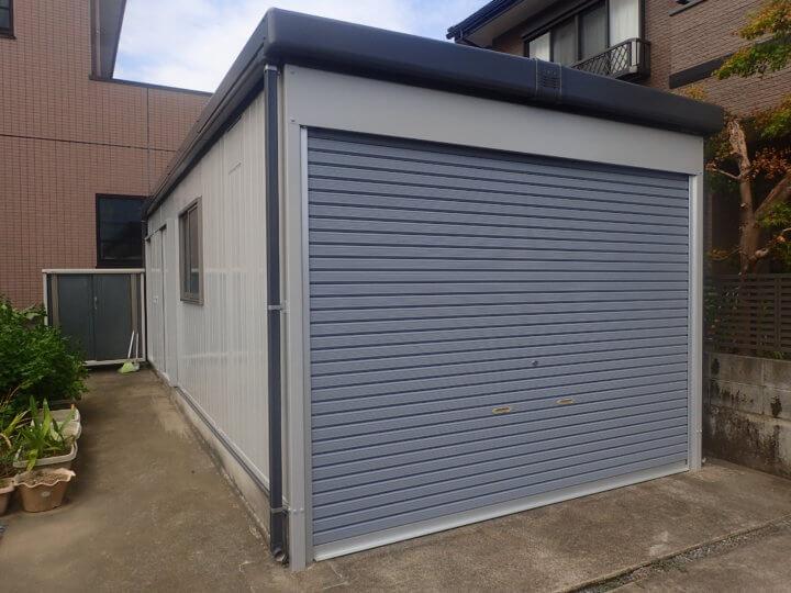 浜松市東区天王町Kさま倉庫塗装完成しました。外壁塗装の事なら浜松塗装専門店|加藤塗装