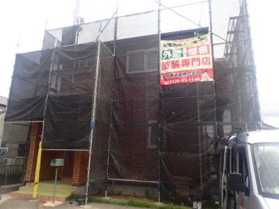 浜松市中区十軒町屋根外壁塗装工事が始まりました クリアー塗装 外壁塗装の事なら浜松塗装専門店|加藤塗装