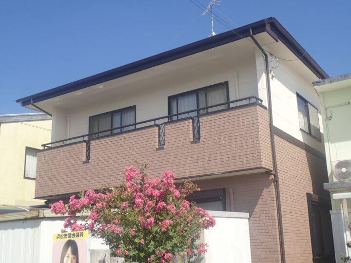 浜松市南区遠州浜Mさま外壁・屋根塗装完成しました。外壁塗装の事なら浜松塗装専門店|加藤塗装