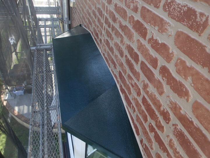 出窓鉄部塗装完成