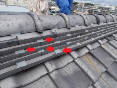 間違い瓦補修ラバーロック工法 加藤塗装 浜松市中区神田町 口コミ 修繕 台風被害