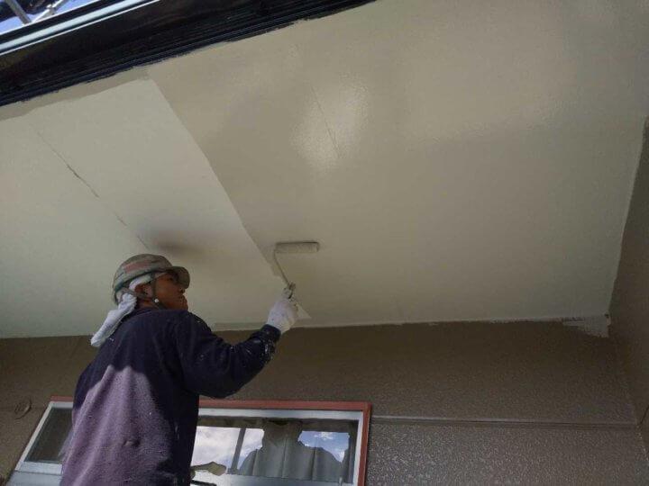 DSC_0223アパートマンション塗装 軒天 外壁塗装の事なら浜松塗装専門店 加藤塗装 竜禅寺町