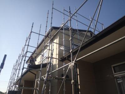 浜松市南区頭陀寺町アパート塗装始まりました。外壁塗装の事なら浜松塗装専門店|加藤塗装 マンション リフォーム リノベーション