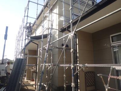 浜松市南区頭陀寺町アパート塗装始まりました。外壁塗装の事なら浜松塗装専門店|加藤塗装 マンション リフォーム リノベーション 価格 格安 評判