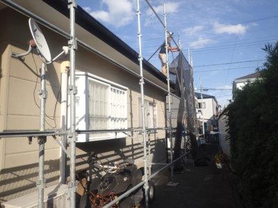 浜松市南区頭陀寺町アパート塗装始まりました。外壁塗装の事なら浜松塗装専門店|加藤塗装 マンション リフォーム リノベーション 価格