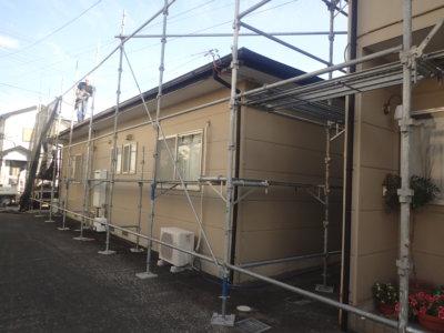 浜松市南区頭陀寺町アパート塗装始まりました。外壁塗装の事なら浜松塗装専門店|加藤塗装 マンション リフォーム リノベーション 価格 格安
