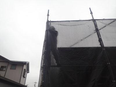 台風14号接近 外壁塗装の事なら浜松塗装専門店|加藤塗装 メッシュシート 足場