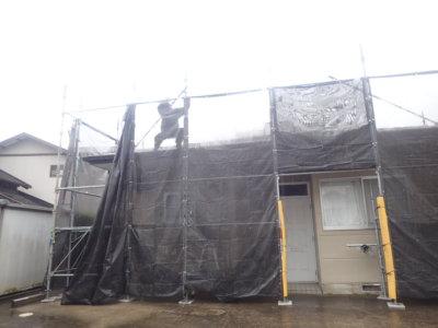 台風14号接近 外壁塗装の事なら浜松塗装専門店|加藤塗装 メッシュシート 足場 強風  対策 大丈夫