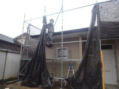 台風14号接近 外壁塗装の事なら浜松塗装専門店|加藤塗装 メッシュシート 足場 強風 対策 大丈夫 倒壊 危険 口コミ