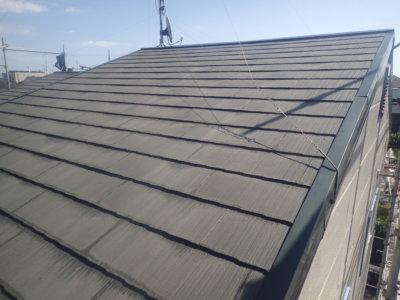 アパート屋根塗装カラーベスト スレート 外壁塗装の事なら浜松塗装専門店|加藤塗装 頭陀寺町 平屋 集合住宅