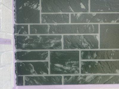 ダブルトーン仕上げ 外壁塗装の事なら浜松塗装専門店 石材調サイディング