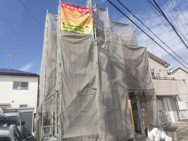 東区小池町 外壁屋根塗装始まりました 外壁塗装の事なら浜松塗装専門店|加藤塗装