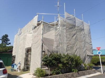 遠州浜工事始まりました!外壁塗装の事なら浜松塗装専門店|加藤塗装