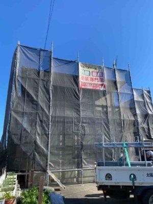 南区新橋町Sさま邸工事が始まりました!外壁塗装の事なら浜松塗装専門店|加藤塗装