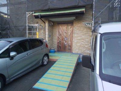 養生作業 浜松市中区高林町Oさま邸 外壁塗装の事なら浜松塗装専門店|加藤塗装