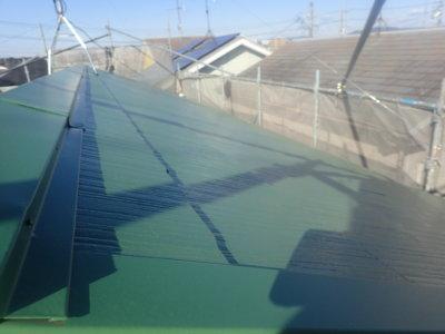 浜松市東区小池町屋根外壁塗装工事 外壁塗装の事なら浜松塗装専門店|加藤塗装 緑色の屋根