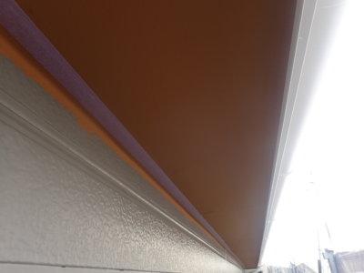 浜松市東区小池町屋根外壁塗装工事 外壁塗装の事なら浜松塗装専門店|加藤塗装 緑色の屋根 軒天オレンジ 個性的