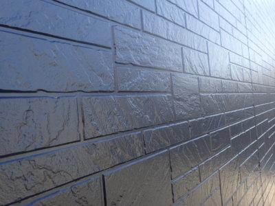 東区中郡町 施工事例 外壁塗装の事なら浜松塗装専門店|加藤塗装 ダブルトーン工法 石材調サイディング ツートンカラー スーパーセラタイトフッ素 耐久 耐用年数