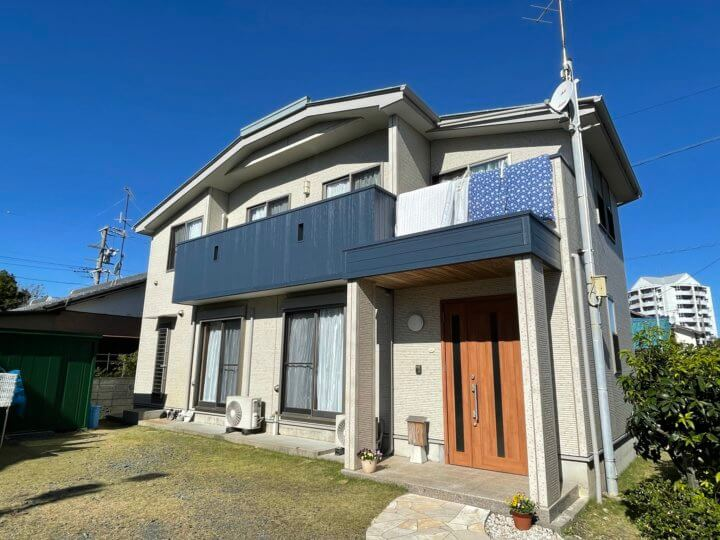 浜松市南区遠州浜Yさま邸 屋根・外壁塗装完成しました。