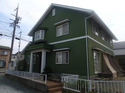 湖西市塗替え 外壁塗装の事なら浜松塗装専門店|加藤塗装 リシン仕上げ
