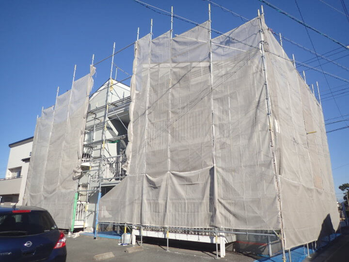 浜松市南区河輪町アパート塗装 JOY河輪 外壁塗装の事なら浜松塗装専門店 加藤塗装