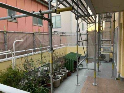 2中区中央 施工事例 外壁塗装の事なら浜松塗装専門店|加藤塗装 二階に玄関