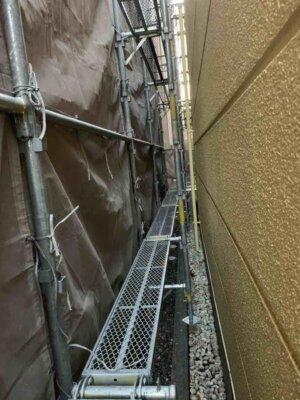 2中区中央 施工事例 外壁塗装の事なら浜松塗装専門店|加藤塗装 二階に玄関 店舗付き住宅