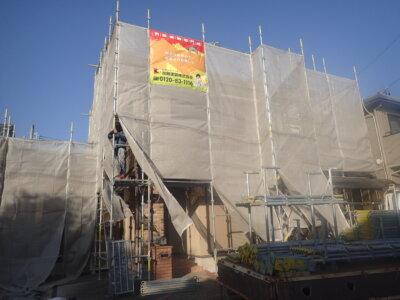 浜北区染地台 施工事例 外壁塗装の事なら浜松塗装専門店|加藤塗装 塗り壁調 西区坪井町
