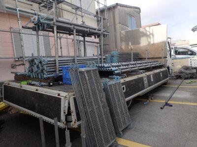 浜松市南区三島町 施工事例 外壁塗装の事なら浜松塗装専門店|加藤塗装 架設時の注意点