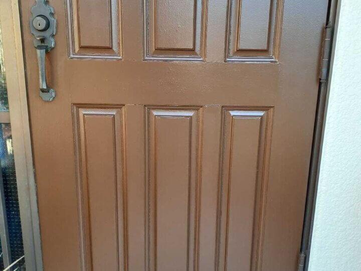玄関片面塗装完成
