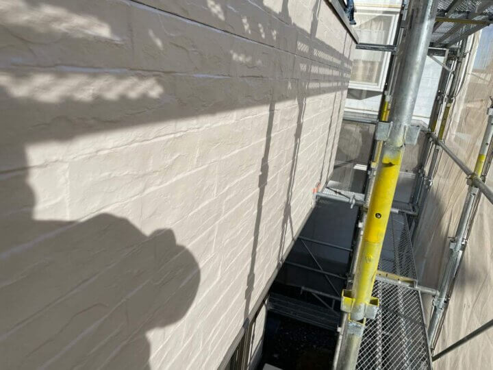 外壁(グリークホワイト)塗装完成