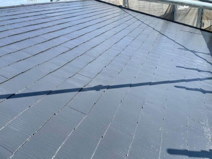 カラーベスト屋根塗装完成