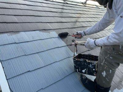 浜松市南区遠州浜 Kさま邸 カラーベスト屋根中塗り塗装!外壁塗装の事なら浜松塗装専門店|加藤塗装 カラーベスト