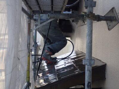 浜松市南区西島町 施工事例 外壁塗装の事なら浜松塗装専門店|加藤塗装 純和風住宅 瓦の上に足場 高圧洗浄 バレンタイン2021 漆喰改修