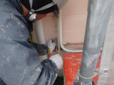 浜松市南区三島町 施工事例 養生 外壁塗装の事なら浜松塗装専門店|加藤塗装 ノワ ケーキ