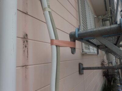 浜松市南区三島町 施工事例 養生 外壁塗装の事なら浜松塗装専門店|加藤塗装 ノワ ケーキ エアコン配管カバー 取り外し方