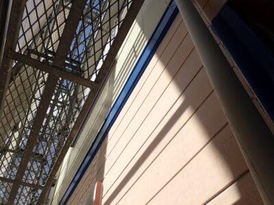 カラーシュミレーション ツートン 青と白 外壁塗装の事なら浜松塗装専門店 加藤塗装 お洒落 可愛い 帯板青