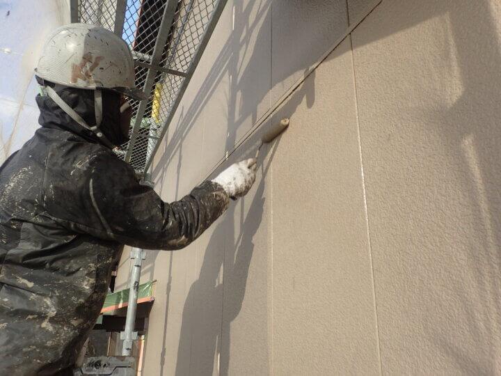 外壁塗替え 上塗り塗装 南区西島町 施工事例 外壁塗装の事なら浜松塗装専門店|加藤塗装