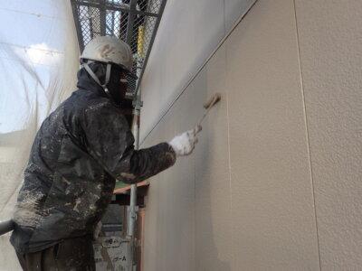 外壁塗替え 上塗り塗装 南区西島町 施工事例 外壁塗装の事なら浜松塗装専門店|加藤塗装 施工事例 令和3年 2021