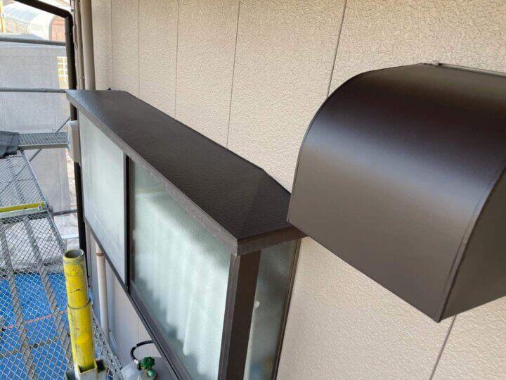 出窓屋根、排気フード塗装完成