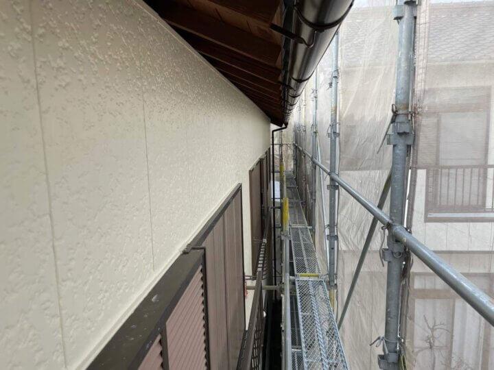 軒天塗装工事完成