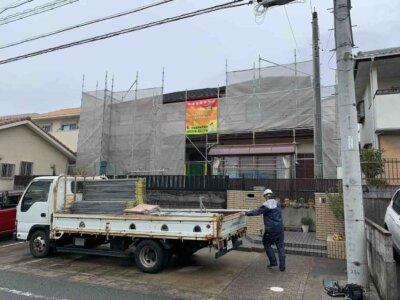 足場架設 中区佐鳴台 外壁塗装の事なら浜松塗装専門店|加藤塗装