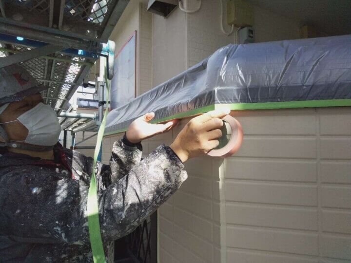 アパートマンション塗装 施工事例 磐田市 外壁塗装の事なら浜松塗装専門店 加藤塗装 千手堂 強風