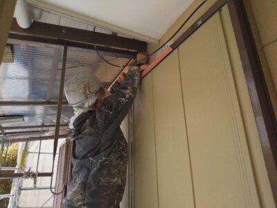 浜松市南区長田町 施工事例 養生作業 外壁塗装の事なら浜松塗装専門店|加藤塗装