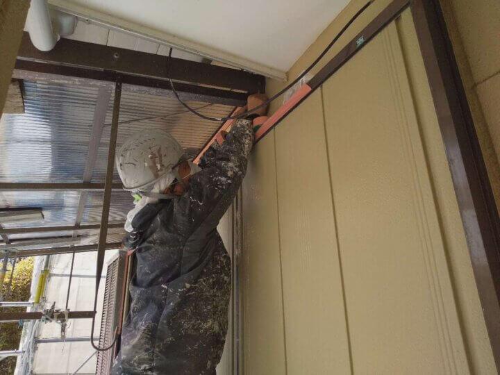 浜松市南区長田町 施工事例 養生作業 外壁塗装の事なら浜松塗装専門店 加藤塗装