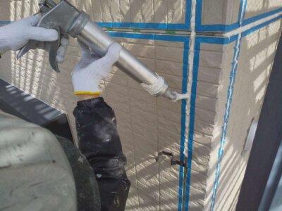 浜松市南区西町 施工事例 オートンイクシード シーリング改修工事 外壁塗装の事なら浜松塗装専門店|加藤塗装 コーキング補修 丁寧な施工