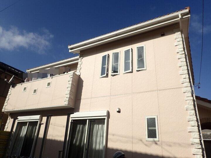 浜松市中区北寺島町 Iさま邸 外壁塗装完成しました。外壁塗装の事なら浜松塗装専門店|加藤塗装